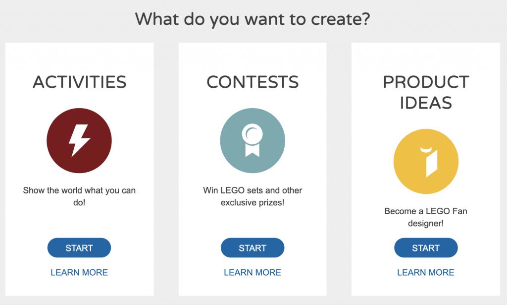 Lego users creates own design - screenshot