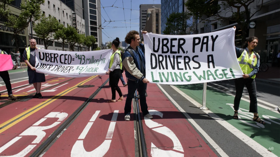 Uber demonstrations for better worker conditions - photo